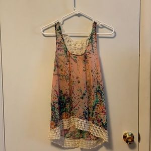 Collective concepts racer back floral print top